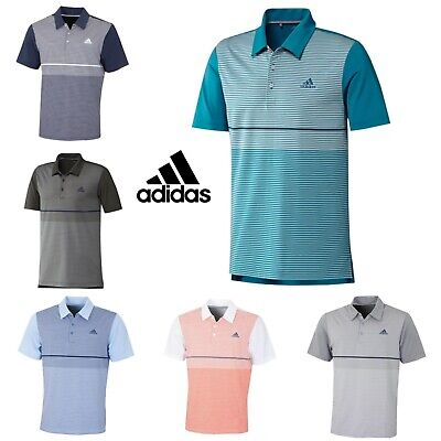 adidas Golf 2019 Mens Ultimate Color Block Stretch UPF 50+ Breathable Polo Shirt