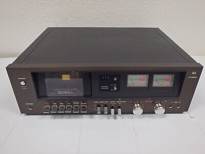 Vintage 1978-79 DUAL C-809 4-Track 2-Channel Stereo Cassette Tape Deck Read