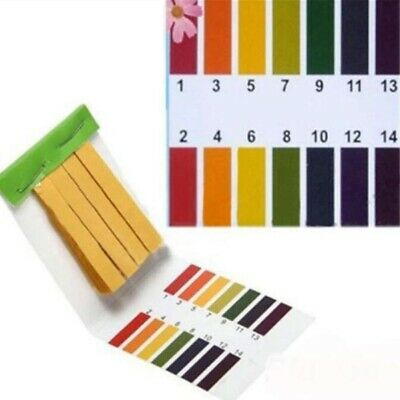 PH Test Kit Strips Tropical Aquarium Pond Water Testing 1pH - 14pH Litmus Papers