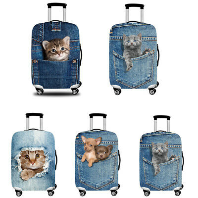 Cat Dog Suitcase Protective Trolley Case Luggage Cover Dust Proof Bag Case New