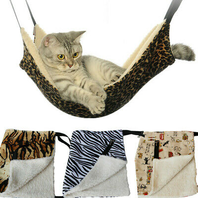 Warm Hanging Cat Bed Mat Soft Winter Pet Kitten Hammock Cage Bed Cover Cushion