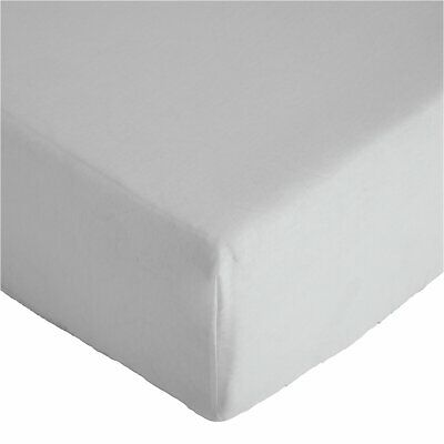 Argos Home 26cm Double Fitted Sheet - White