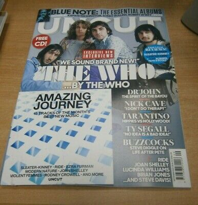 Uncut magazine SEP 2019 The Who, Dr John, Quentin Tarantino, Blue Note + CD