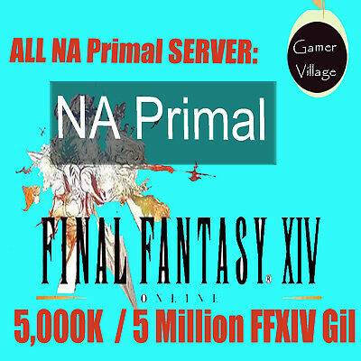 Cheap FINAL FANTASY XIV FFXIV FF14 GIL 5000K /5 MILLION NA ALL Primal Server