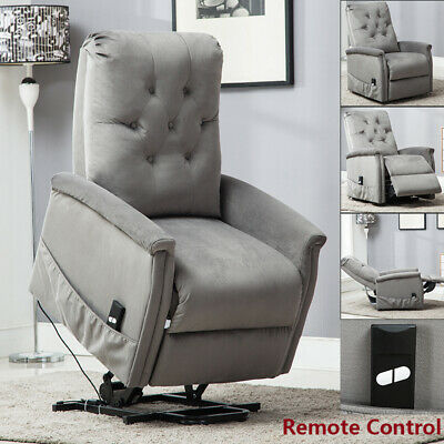 Recliner Rocking Chair Manual Leisure Armchair Sofa Padded Cushion For Elderly