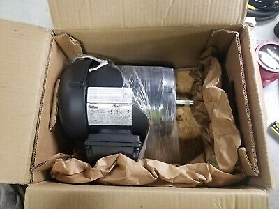 New Weg 2 Hp Electric Ac Motor 208-230/460 Vac 3 Phase 56C Frame 3500 Rpm