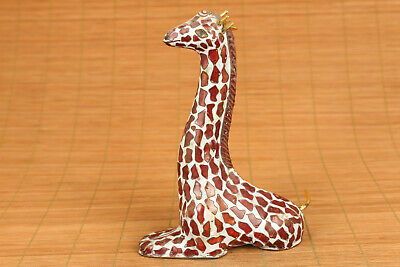 chinese old cloisonne hand carved lovely deer statue figure