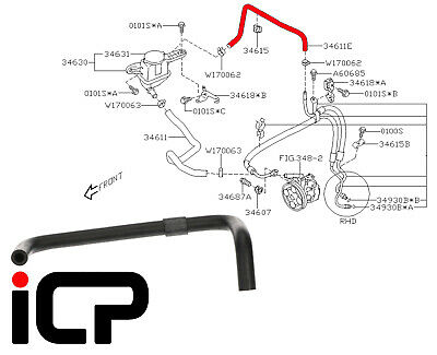 Replacement Parts Pressure Hoses Parts Master 80261 Power Steering ...