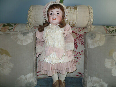 Antique large 27 Inch SFBJ 236 Paris Laughing French Bisque Charater Doll c.1915