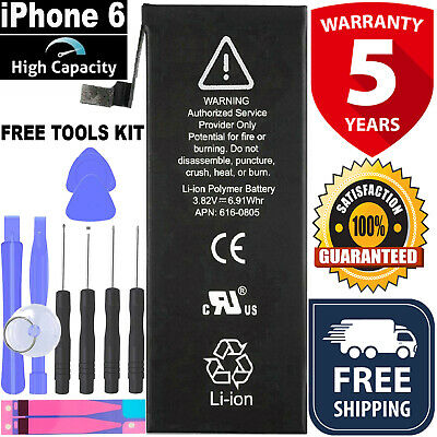 Replacement Battery for iPhone 6 1810mAh Internal Li-ion with Free Tool Kit