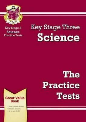 KS3 Science Practice Tests by CGP Books 9781847622549 | Brand New