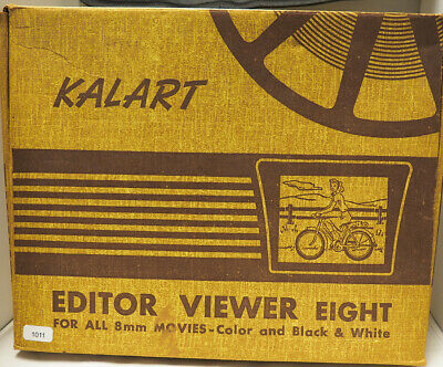 Kalart Editor Viewer Eight Red w/ Wood Base Lights in Case / Box #011