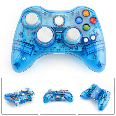 Wireless Bluetooth Game Remote Controller Gamepad For Microsoft Xbox 360 Blue GB