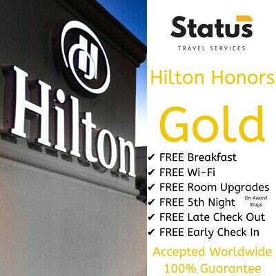 Hilton Honors | Gold Status | 24/7 Service | Complimentary Upgrades & Breakfast