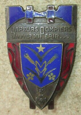 Insigne Sapeurs Pompiers,email,vers 1950/60-Obsolete