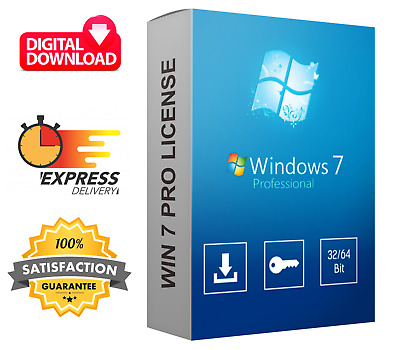 Windows 7 Professional Key - Super Fast Delivery - Full Version - 32/64 Bit