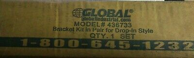 NEW Global Bracket Kit in Pair for Drop-In Style, Steel, Yellow