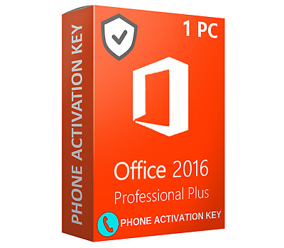 🔑 Office 2016 1PC 1USER 32 / 64 BITS PC 🔑 Phone Activation Key Only Today
