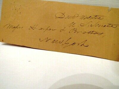 Original Daniel Webster Us Senate Clip With Addressee? Autographed With Coa