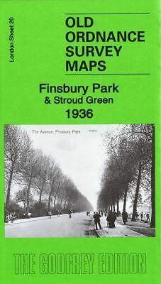 Old Ordnance Survey Map Finsbury Park Stroud Green 1936 Crouch End Harringay