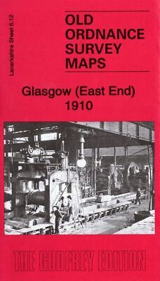 Old Ordnance Survey Map Glasgow East End 1910 Gallowgate Parkhead Junction