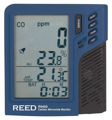 Reed R9450 Carbon Monoxide/Temp Humidity Monitor