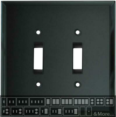 Glass Mirror Smoke Grey Switch Plates, Wall Plates & Outlet Covers