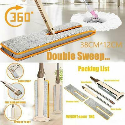 Floor Mop Turbo Double Sided Flat Mop Telescopic Comfortable Handle Mop Cleaning
