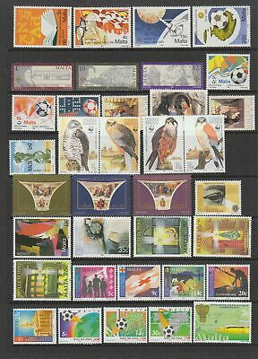 Malta 1990 - 1995  MNH collection, 67 stamps + 1 Miniature Sheet