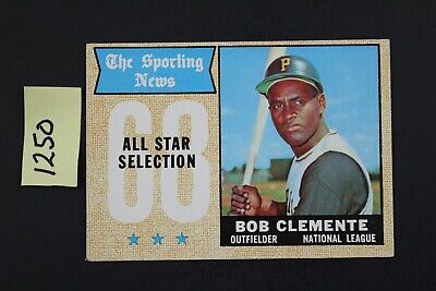 1968 Topps #374 Roberto Clemente Sports News All-Star Selection (1250