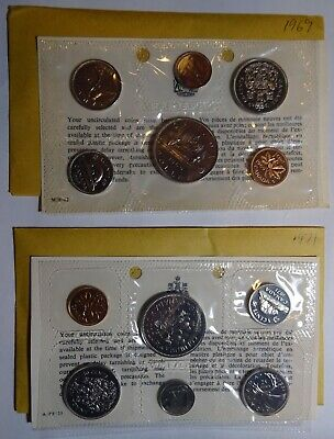 1971, 1969 proof like uncirculated Canadian coin sets, Canada coins