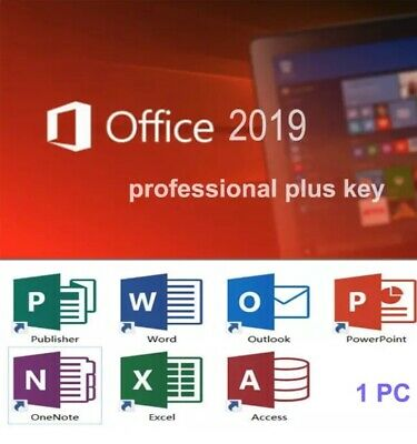MS  Office Professional Plus 2019 |32/64-Bit License Key Lifetime Activation