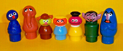 7 rare Vintage Sesame Street Fisher Price Little People Herry Monster SNUFFIE