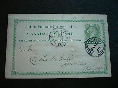 Postal History - Canada - Scott# UX4 on UPU Post Card to Bruselles.