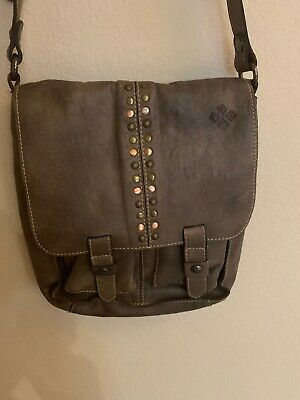 PATRICIA NASH  Armeno Distressed  GRIEGE Leather Crossbody Preowned MSRP $229