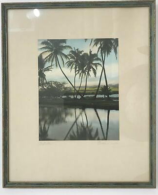 1940's Vintage Hand Colored Photograph By Edithe Beutler 'Reflections'