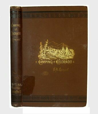 1879 Colorado Rocky Mountains Guide Tourist Gold Prospecting Resorts Camping Co