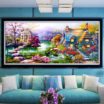 5D DIY Full Drill Large Diamond Painting Cross Stitch Embroidery Kits Craft Gift