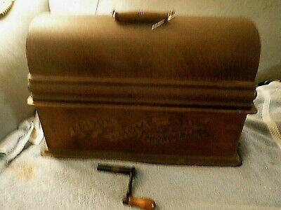 antique edison home cylinder phonograph for repair original