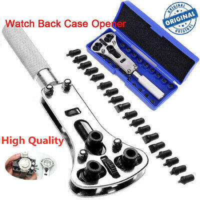 Watch Back Case Battery Cover Opener Repair Wrench Screw Remover Tool Set Kit TM