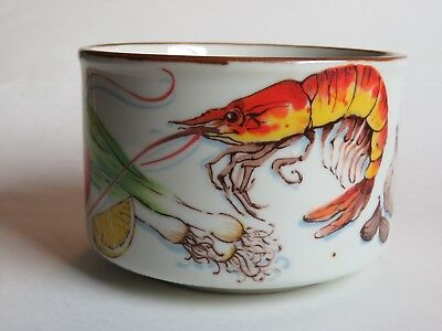 LOUISIANA Seafood Gumbo Soup Bowl ~ DH Holmes Dept. Store  ~ Shrimp, Oysters