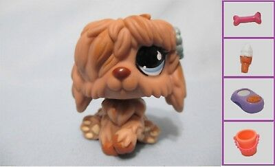 Littlest Pet Shop Dog Sheepdog Shaggy 678 and Free Accessory Authentic Lps