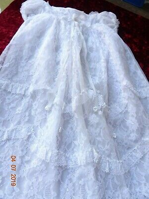 VINTAGE - exquisite  christening gown suit  - Reborn Collector