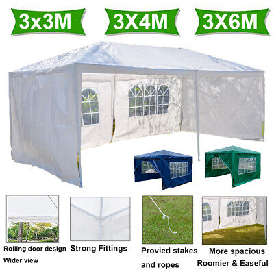 Waterproof Outdoor Garden Gazebo Family Party Tent Marquee Canopy 3x3m 3x4m 3x6m