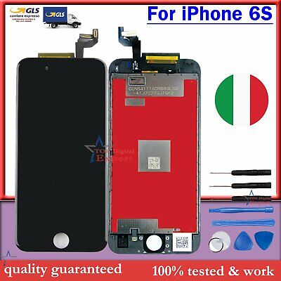 Nero Schermo Per Apple Iphone 6S Lcd Display Touch Digitizer Frame Assembly Gls
