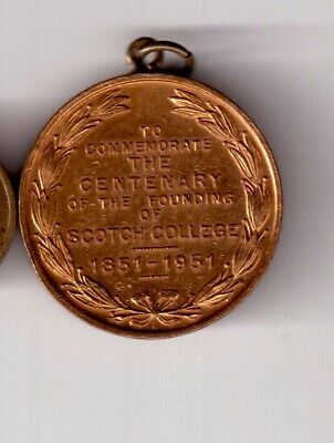 Scotch College Centenary Medal 1851 To 1951 By Stokes.