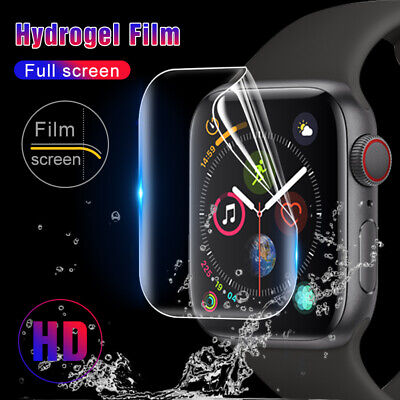 Soft Hydrogel Screen Protector Film For Apple Watch Series 4321 iWatch 38 - 44mm