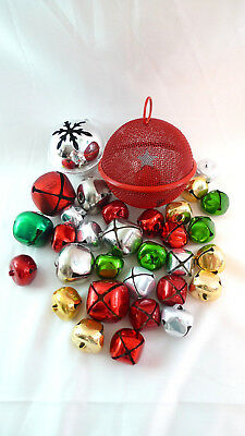 32 CHRISTMAS JINGLE BELLS Assorted Sizes Crafts Wreaths Stockings