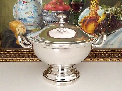 Rare 19th C.German Silver Plated Hotelware Footed Lidded Tureen BOHRMANN C1895
