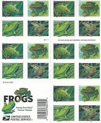 2019 Frogs Forever booklet pane - 20 stamps